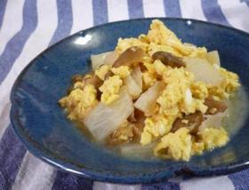 ザーサイと長芋のさっ♪と卵とじ