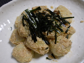 里芋の明太マヨ炒め