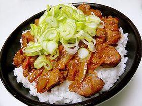 簡単っ!ピリ辛レバ丼 !!!