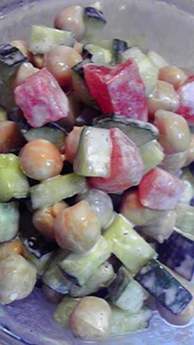 あっ!という間★ひよこ豆とトマトサラダ