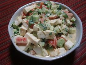 簡単サラダ★アボガド&トマト&お豆腐で★