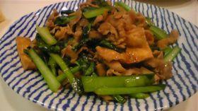 小松菜と油揚げの甘辛炒め