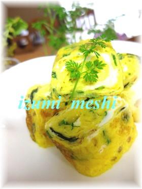 お弁当に☆韓国海苔の玉子焼き