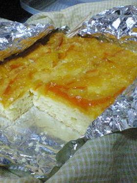 オレンジクリームチーズケーキ
