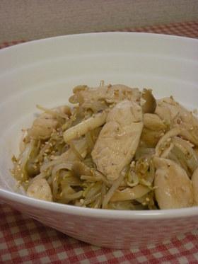 鶏ささみともやしのあっさり中華炒め