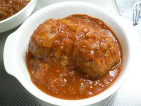 ハンバーグinトマトシチュー