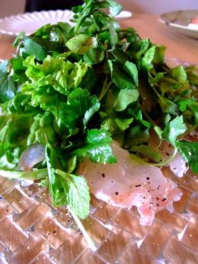 【簡単】金目鯛とクレソンの爽やかなサラダ