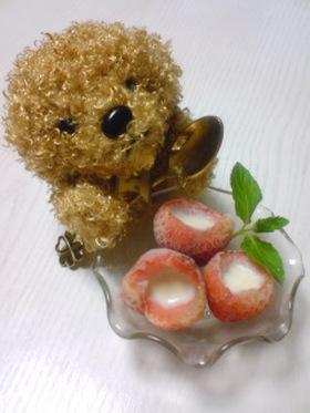練乳♡イチゴアイス!!(๑→ܫ←)ノ