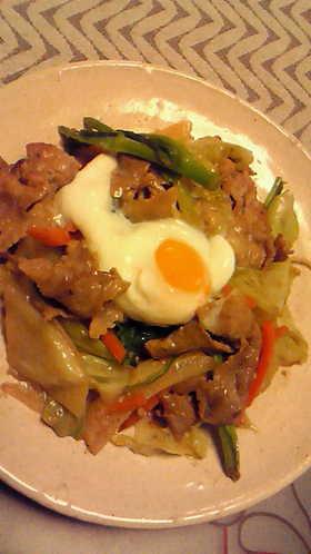 豚肉と春キャベツのゴマ味噌炒め