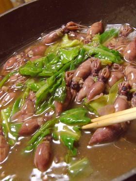 ホタルイカと、くず野菜のうま煮