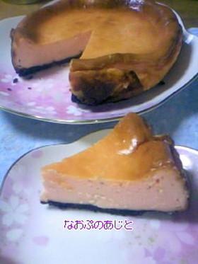 苺のかほりとオレオのチーズケーキ