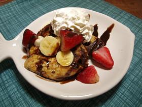 アメリカンな朝食☆チョコフレンチトースト