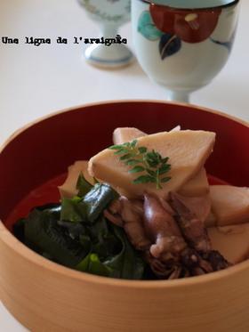 ホタルイカ入り若竹煮。