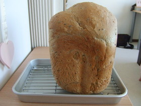 HBにおまかせ☆ゴマたっぷりセサミ食パン