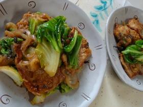 豚肉と春野菜のしその実炒め