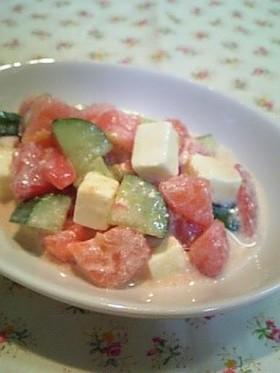 トマトのころころサイコロサラダ