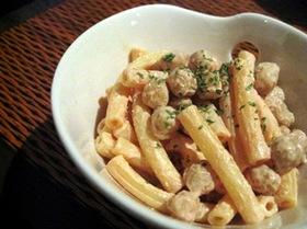 ひよこ豆とマカロニの簡単サラダ