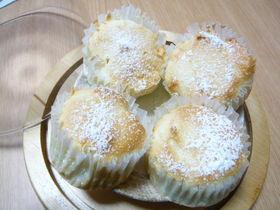 卵白消費ふわふわ真っ白カップケーキ♪