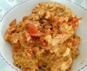 朝食に。すぐできる中華風トマトチーズ卵