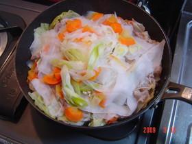 フライパンで簡単蒸野菜