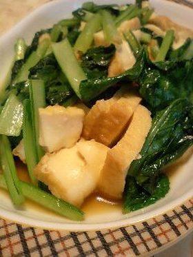 カンタン♪小松菜とおあげの炒め物
