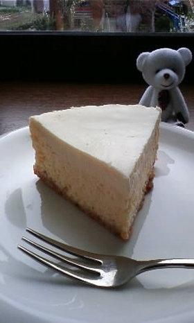 2層のクリームチーズケーキ