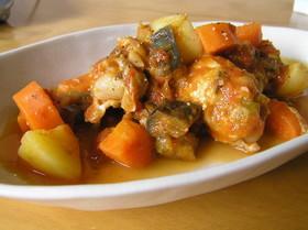 お好きな野菜で♪♪ 鶏肉のトマト煮☆