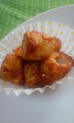 □ちくわのカレケチャチーズ炒め□