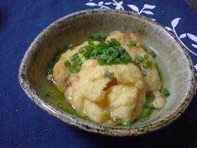 豆腐とイカの揚げ出し