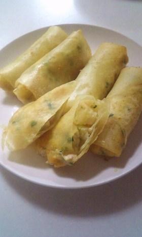 新じゃがと✿豆腐と✿鶏ひきの✿春巻き