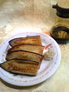 フライパンで簡単♪茄子のオイル焼き