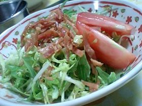 水菜と春キャベツのサラダ