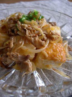 豆腐の豚キムチ炒め