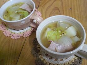 こんがり春キャベツのスープ