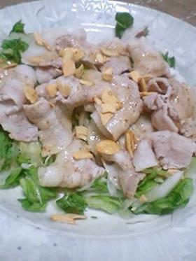 豚バラと新玉ねぎの簡単ボリュームサラダ