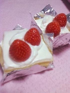 スフレシートで作る☆ショートケーキ☆