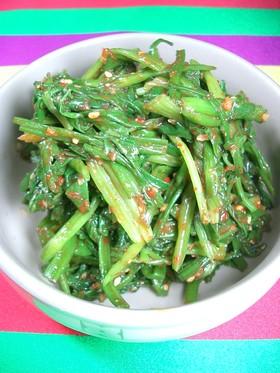 韓国で作る春野菜料理 野芹の和え物