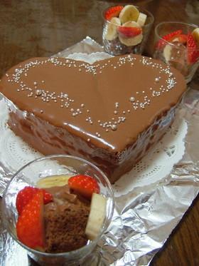 【ハート*チョコレートケーキ】