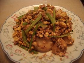 簡単!かぶと卵とツナのマヨ炒め