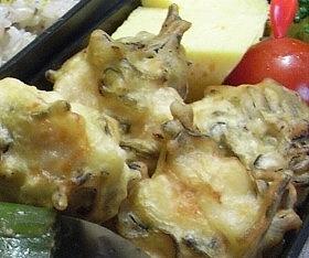 【お弁当】塩昆布で鶏ササミの天ぷら♪