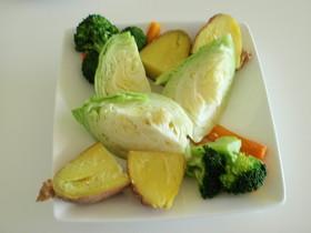 春キャベツのたっぷり温野菜!ゆず胡椒風味
