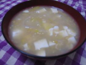 白菜と豆腐のクリームコーンスープ♪