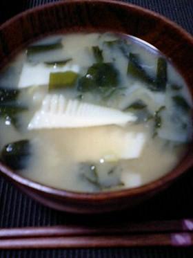簡単!筍の味噌汁