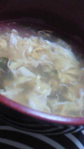 ニラたまスープ(m'∀'m)