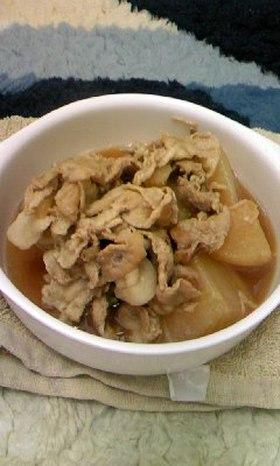 豚肉と大根の煮物 ほたて出汁プラス