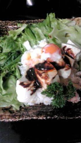 ヘルシー☆豆腐でニセタコライス丼☆