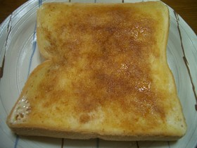 香ばしい砂糖醤油のトースト
