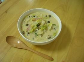 春キャベツの味噌ミルクスープ