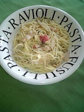 ♪サクラ咲く和風きのこスパゲティー♪