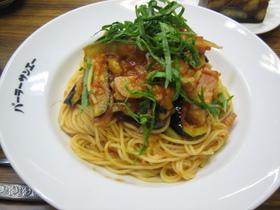 揚げなすのスパゲッティ